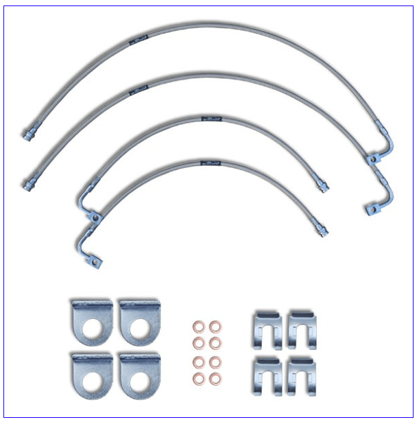 2007 to 2018 Jeep JK Wrangler Braided Stainless Brake Lines