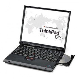 refurbished ibm thinkpad t23 laptop with rs232 serial port and windows xp