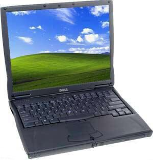 xp gaming refurbished dell c640 laptop with serial rs232 port and windows xp