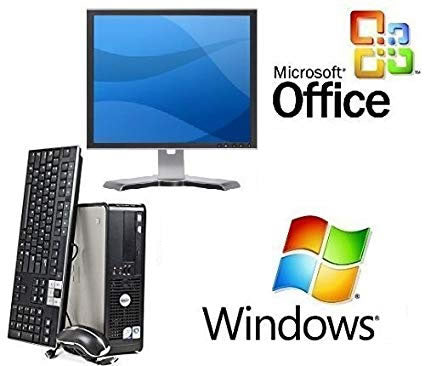 refurbished complete dell pc system with windows 10 and microsoft office for business and office use