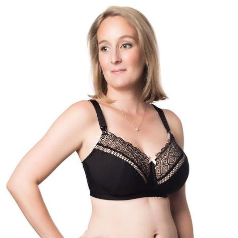 Hotmilk Show Off Wirefree Nursing Bra Black