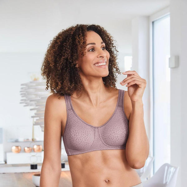 Amoena Mona Wirefree Soft Pocketed Bra Mauve