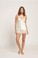 Ginia Pick & Mix Lace Silk Camisole and Short Set