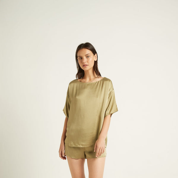 Ginia Washable Silk Tee
