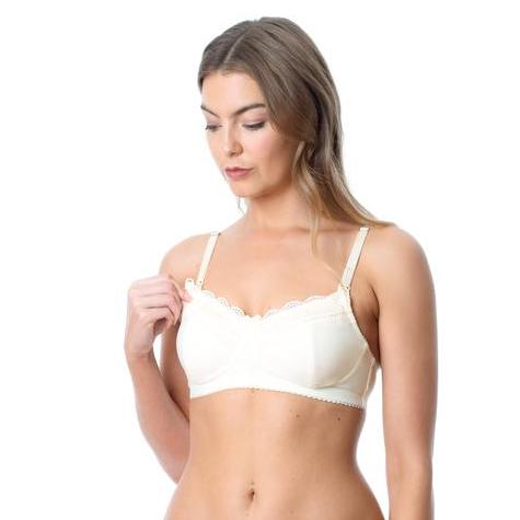 Hotmilk Show Off Wirefree Nursing Bra Ivory