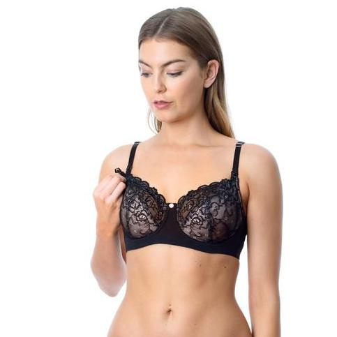 Hotmilk Temptation Nursing Bra Black