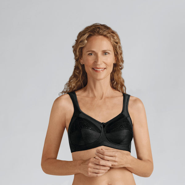 Amoena Isadora Wirefree Soft Cup Pocketed Bra Black