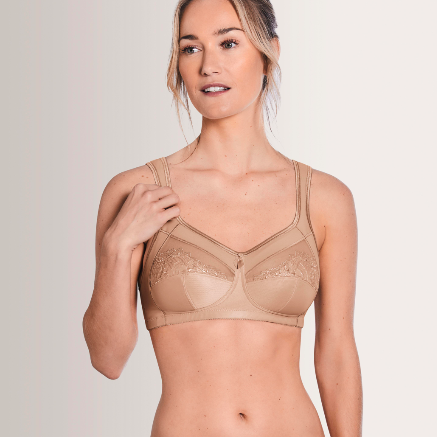 Amoena Isadora Wirefree Soft Cup Pocketed Bra Nude