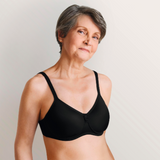 Amoena Lara Wirefree Soft Pocketed Bra Black