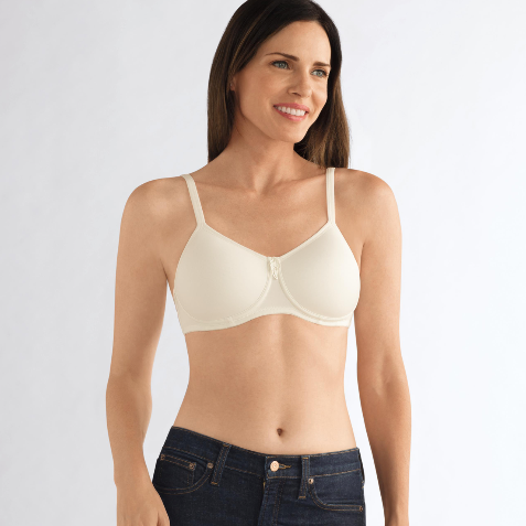 Amoena Lara Wirefree Soft Pocketed Bra Cream