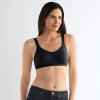 Amoena Mona Wirefree Soft Pocketed Bra Black