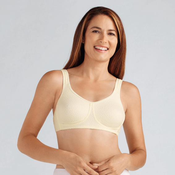 Amoena Mona Wirefree Soft Pocketed Bra Champagne