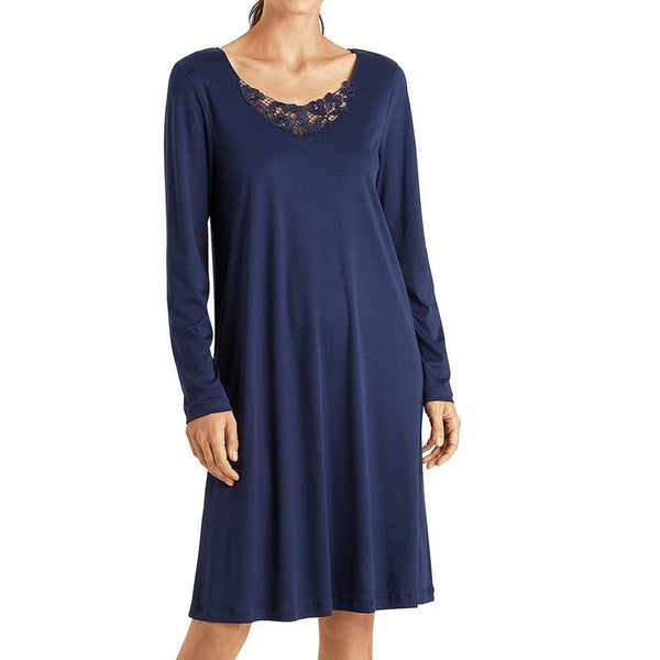 Hanro Najuma Knee Length Long Sleeve Nightdress
