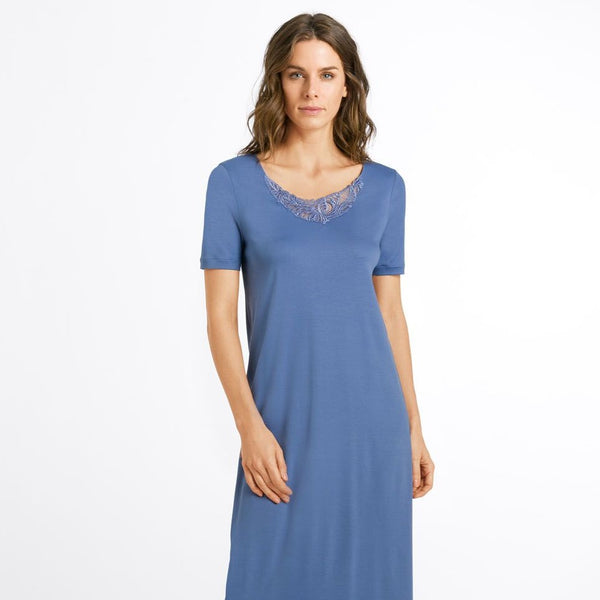 Hanro Madlen Short Sleeve Long Nightdress