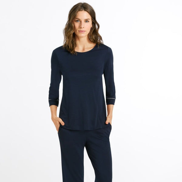 Hanro Natural Comfort 3/4 Crop Pyjama