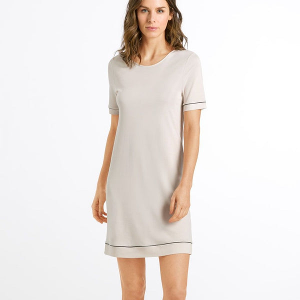 Hanro Natural Comfort Short Sleeve Nightdress