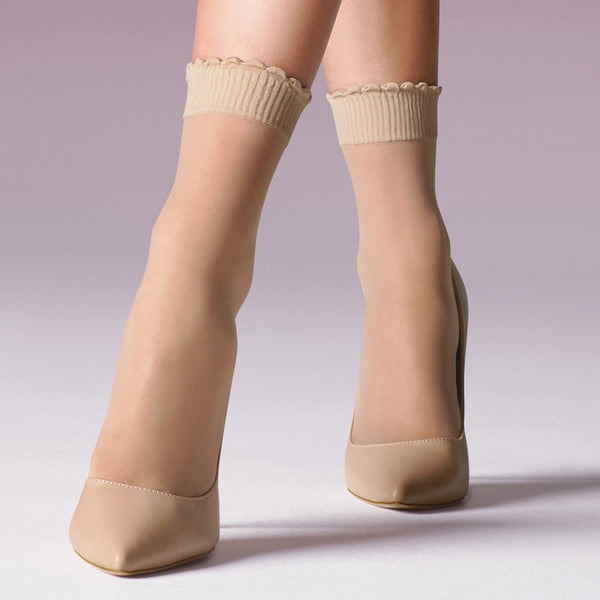Levante Ritz Sheer Matte Anklets