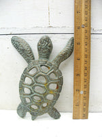 Cast Iron Sea Turtle - Turtle Lover Gift - Free Ship