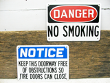 Industrial Metal Signs - No Smoking - Factory Signs - 2 Danger Signs - Free Shipping - idugitup