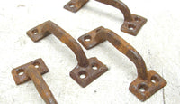 Rusty Iron Drawer Pulls - DIY Cabinet Handles Upcycle Repurpose Industrial