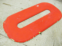 "Vintage Metal Number 0 Number Zero Letter O Sign 10"" Orange Tin Sign Free Ship"