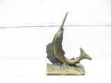 Vintage Brass Nautical Decor - Brass Marlin - Nautical Gift - idugitup