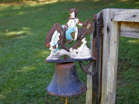 Vintage Horse Bell - Porch or General Store Bell - Barn Find - Bronco Bell - idugitup