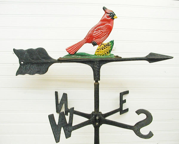 Vintage Cardinal Weather Vane For Sale - Perfect Gift for the Bird Lover - idugitup