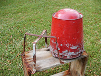 Vintage Fire Buckets and Rack Stand - Fire Wagon Restore - idugitup
