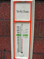 Vintage Tin Advertising Thermometer - Holly Farms - idugitup
