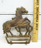 Cast Iron Horse Wall Hooks - Key Hook - Western Lodge - Cowboy Gifts - idugitup
