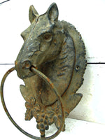 Cast Iron Horse Head - Wall Mount - Barn Chic - Farmhouse Decor