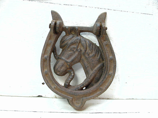 Horse Door Knocker - Cowboy Barn Decor - Horse Lover Gift - Free Ship