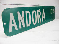 Vintage Street Sign - Man Cave Sign Bar Decor - Andora Dr - idugitup