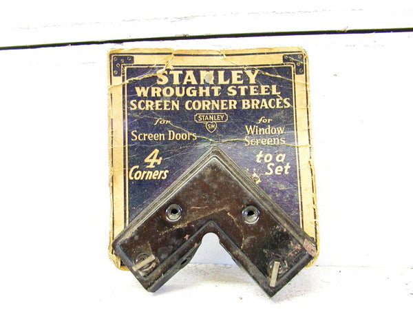 Vintage Stanley Hardware Screen Braces on Card - General Store - Advertising - idugitup
