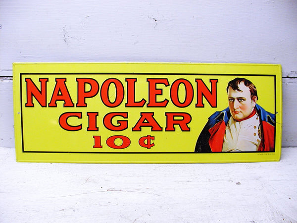 Tobacco Sign - Advertising Sign - Metal Sign - Napoleon Cigar - Sign Embossed - idugitup