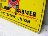 Vintage No Trespassing Sign - Prairie Farmer Embossed  Metal Sign for Mancave or Restaurant Decor - idugitup