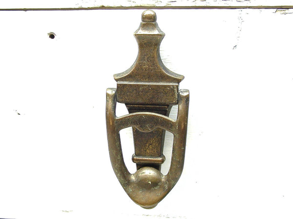 Vintage Brass Door Knocker - Unique Doorknocker - Lockable - idugitup