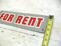 Retro For Rent Sign - Metal Real Estate Sign - Free Ship - idugitup