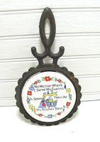 Vintage Country Kitchen Cast Iron Trivet Old Saying Kitchen Best - idugitup