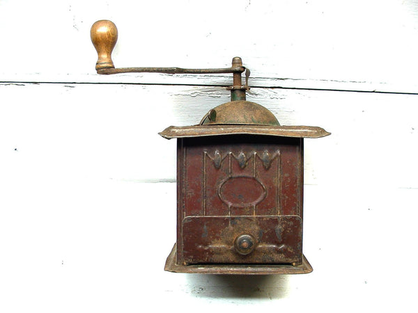 Vintage Tin Coffee Mill - Coffee Grinder - Perfectly Primitive General Store - idugitup