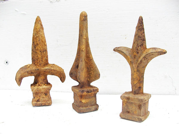 Cast Iron Finials - Salvaged Fence Ornaments - Garden Art - Free Ship - idugitup