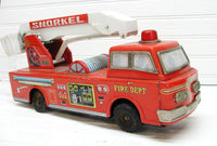 Tin Lithograph - Toy Fire Engine - Toy Fire Truck - Japan Toys - Yonezawa Toy Company - idugitup