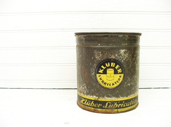 Vintage Kluber Oil Can - Kluber Grease Can - Antique Oil Can - Petroliana - idugitup