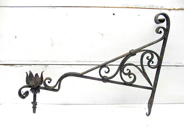 Vintage Iron Sconce - Gothic Spanish Revival - Ornate Iron lighting - idugitup