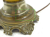Vintage Parlor Lamp - Asian Inspired - Mustard Yellow - Art Nouveau Style - idugitup
