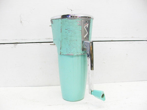 Vintage Retro Ice Crusher - Swing-Away - No Bracket - Working Condition Aqua - idugitup
