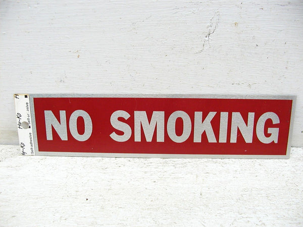 No Smoking Sign - Small Warning Sign - Door Sign - Free Ship - Peel and Stick - idugitup