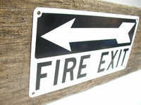 Vintage Metal Fire Exit Sign - Fire Sign - Salvaged Sign - FireFighter Gift - Free Shipping - idugitup
