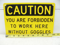 Industrial Metal Sign - Safety Caution Danger Warning Sign - Man Cave Decor - idugitup